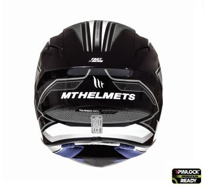 Casca integrala motociclete MT Targo Interact A8 gri/alb/negru lucios [3]