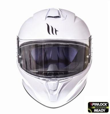 Casca integrala motociclete MT Targo solid A0 alb lucios [2]