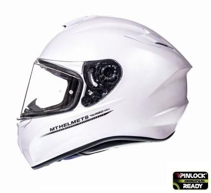 Casca integrala motociclete MT Targo solid A0 alb lucios [0]