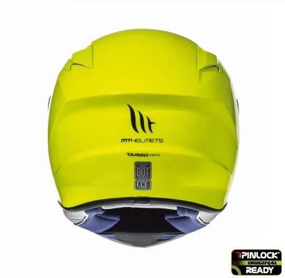 Casca integrala motociclete MT Targo solid A3 galben fluor lucios [3]