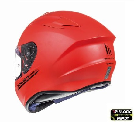 Casca integrala motociclete MT Targo solid A5 rosu mat [4]