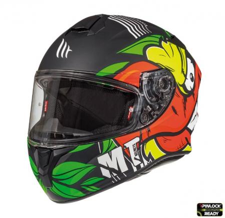 Casca integrala motociclete MT Targo Truck A2 galben fluor mat [1]