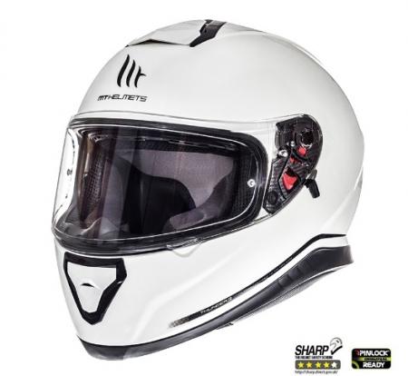Casca integrala motociclete MT Thunder III SV alb lucios (ochelari soare integrati) [1]