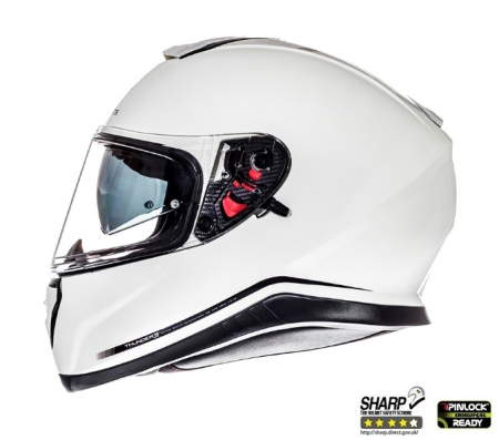 Casca integrala motociclete MT Thunder III SV alb lucios (ochelari soare integrati) [0]