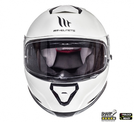 Casca integrala motociclete MT Thunder III SV alb lucios (ochelari soare integrati) [2]