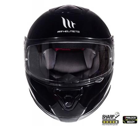 Casca integrala motociclete MT Thunder III SV negru lucios (ochelari soare integrati) [2]