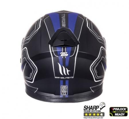 Casca integrala motociclete MT Thunder III SV Trace negru/albastru mat (ochelari soare integrati) [3]