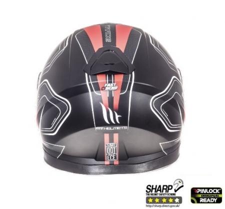Casca integrala motociclete MT Thunder III SV Trace negru/rosu mat (ochelari soare integrati) [3]