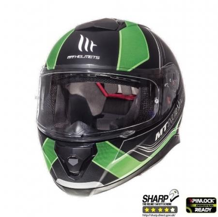 Casca integrala motociclete MT Thunder III SV Trace negru/verde fluor mat (ochelari soare integrati) [1]