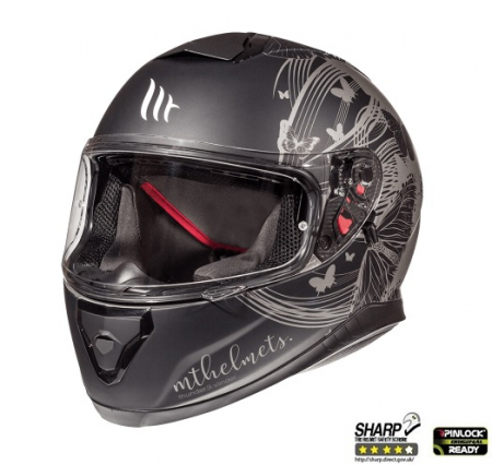 Casca integrala motociclete MT Thunder III SV Vlinder B2 negru/gri mat (ochelari soare integrati) [1]
