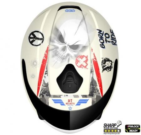 Casca integrala motociclete MT Thunder kids Sniper alb/rosu/albastru lucios – de copii [1]