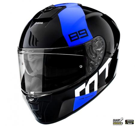 Casca integrala MT Blade 2 SV 89 B7 albastru lucios (ochelari soare integrati) [1]