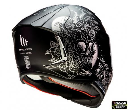 Casca integrala MT Revenge 2 Skull&Rose A1 negru mat [2]