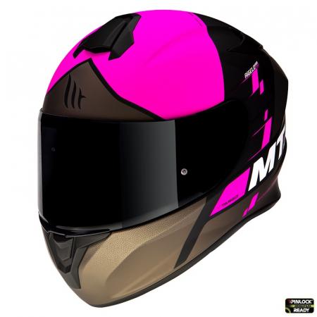 Casca integrala MT Targo Rigel A8 roz fluor mat [1]