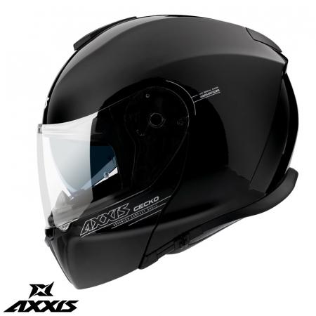 Casca modulabila Axxis model Gecko SV A1 negru lucios (ochelari soare integrati) [2]