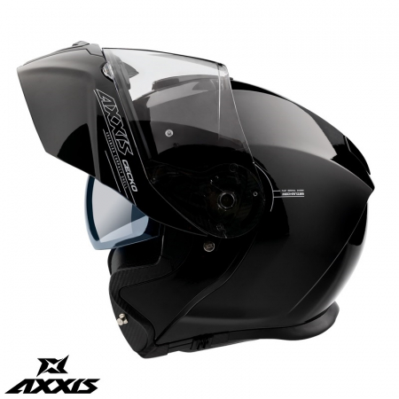 Casca modulabila Axxis model Gecko SV A1 negru lucios (ochelari soare integrati) [0]