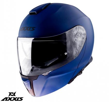 Casca modulabila Axxis model Gecko SV A7 albastru mat (ochelari soare integrati) [1]