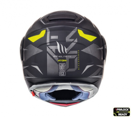 Casca modulabila motociclete MT Atom SV Divergence A12 negru/gri mat Pinlock ready (viziera tip MT-V-16) [3]
