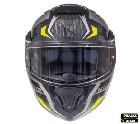 Casca modulabila motociclete MT Atom SV Divergence A12 negru/gri mat Pinlock ready (viziera tip MT-V-16) [2]