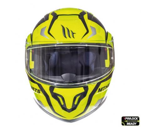 Casca modulabila motociclete MT Atom SV Divergence F1 galben fluor lucios Pinlock ready (viziera tip MT-V-16) [2]