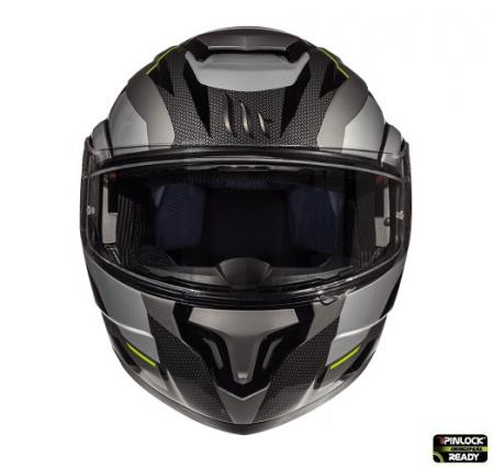 Casca modulabila motociclete MT Atom SV Transcend E2 negru/gri mat Pinlock ready [2]