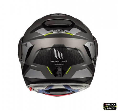 Casca modulabila motociclete MT Atom SV Transcend E2 negru/gri mat Pinlock ready [3]