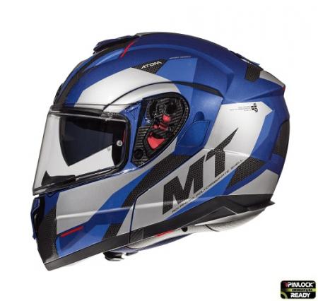 Casca modulabila motociclete MT Atom SV Transcend E7 albastru/gri lucios Pinlock ready [0]