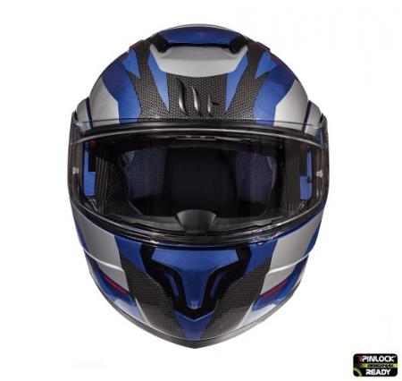 Casca modulabila motociclete MT Atom SV Transcend E7 albastru/gri lucios Pinlock ready [2]