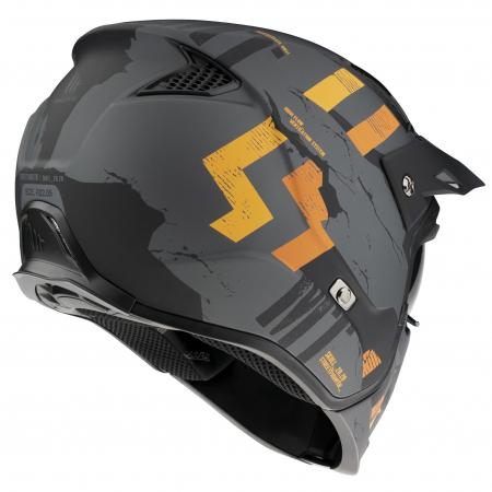 Casca MT Streetfighter SV Skull2020 A12 gri mat (ochelari soare integrati) – masca (protectie) barbie si cozoroc detasabile [2]