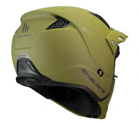 Casca MT Streetfighter SV solid A6 verde mat (ochelari soare integrati) – masca (protectie) barbie si cozoroc detasabile [2]