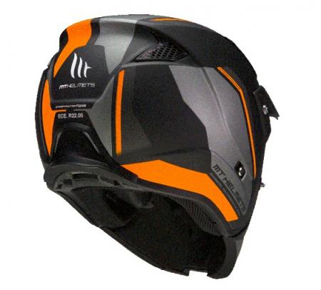 Casca MT Streetfighter SV Twin C4 portocaliu fluor mat (ochelari soare integrati) – masca (protectie) barbie si cozoroc detasabile [3]