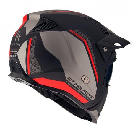 Casca MT Streetfighter SV Twin C5 negru/rosu mat (ochelari soare integrati) – masca (protectie) barbie si cozoroc detasabile [2]