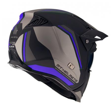 Casca MT Streetfighter SV Twin C7 negru/albastru mat (ochelari soare integrati) – masca (protectie) barbie si cozoroc detasabile [2]