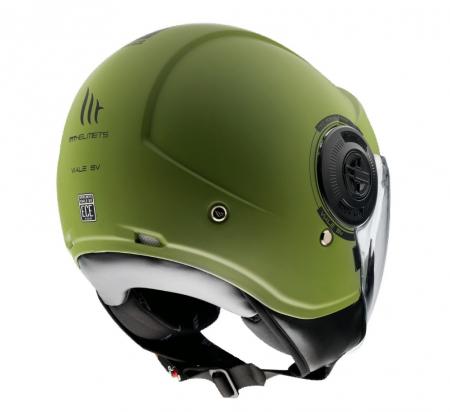 Casca MT Viale SV A6 verde mat (ochelari soare integrati) [2]
