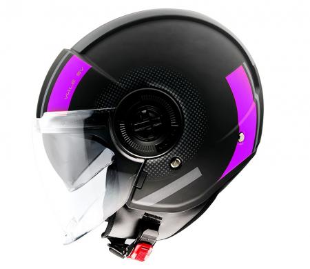 Casca MT Viale SV Phantom C8 roz mat (ochelari soare integrati) [0]