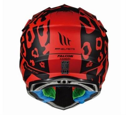 Casca off road motociclete MT Falcon Karson F1 rosu mat [3]