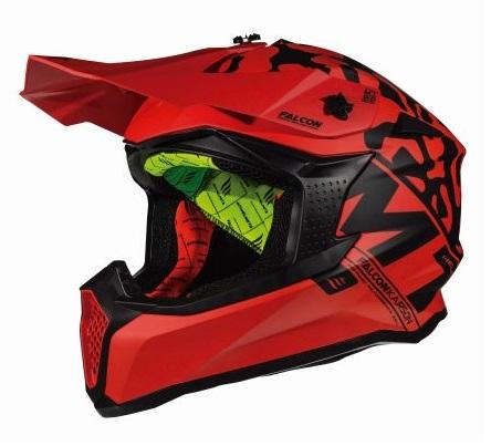 Casca off road motociclete MT Falcon Karson F1 rosu mat [1]