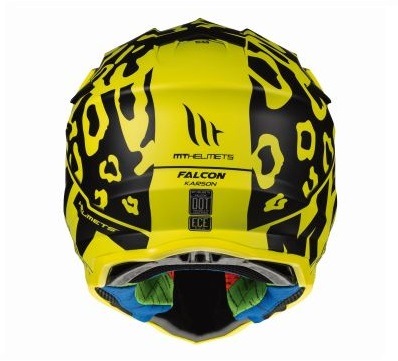 Casca off road motociclete MT Falcon Karson F2 galben fluor mat [3]