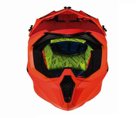 Casca off road motociclete MT Falcon Karson F3 portocaliu fluor mat [2]