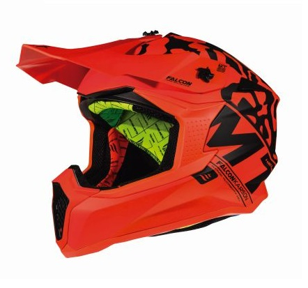 Casca off road motociclete MT Falcon Karson F3 portocaliu fluor mat [1]