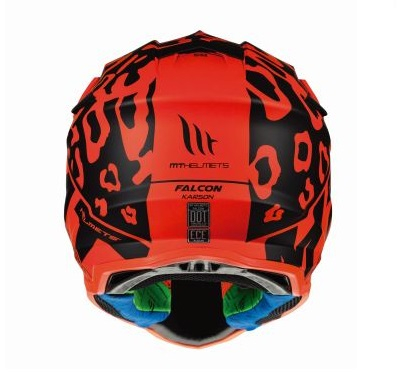 Casca off road motociclete MT Falcon Karson F3 portocaliu fluor mat [3]