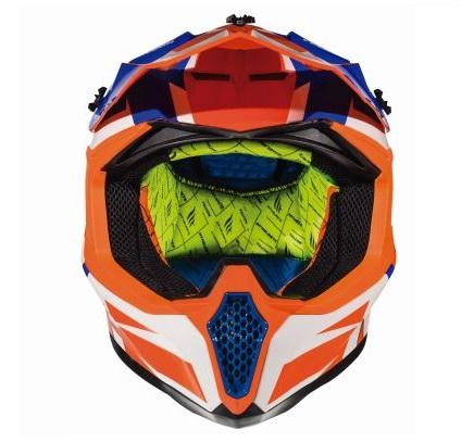 Casca off road motociclete MT Falcon Weston A1 portocaliu fluor lucios [2]