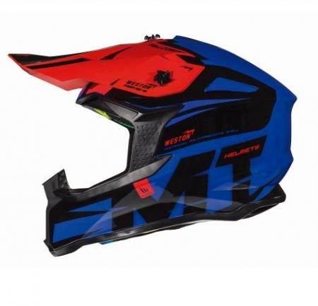 Casca off road motociclete MT Falcon Weston B0 albastru lucios [0]