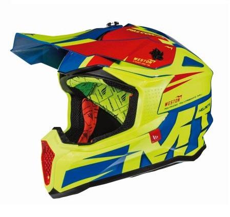Casca off road motociclete MT Falcon Weston C1 galben fluor lucios [1]