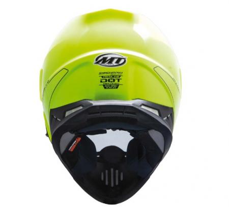 Casca off road motociclete MT Synchrony Duo Sport galben fluor lucios cu viziera (ochelari soare integrati) [2]