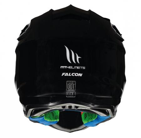 Casca off road MT Falcon solid A1 negru lucios [3]