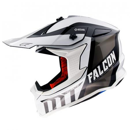 Casca off road MT Falcon Warrior B0 alb/negru lucios [0]