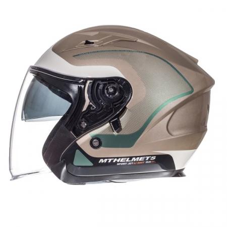 Casca open face motociclete MT Avenue SV Crossroad alb/gri lucios (ochelari soare integrati) [0]