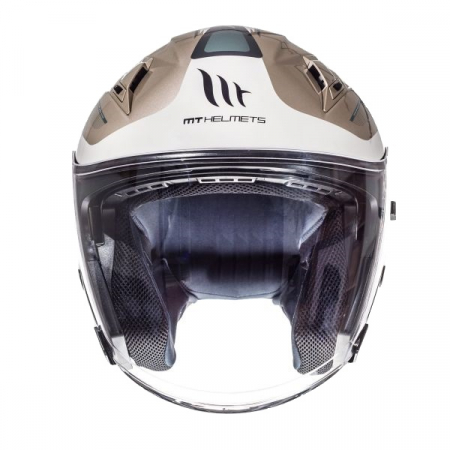 Casca open face motociclete MT Avenue SV Crossroad alb/gri lucios (ochelari soare integrati) [2]