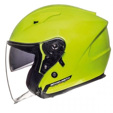 Casca open face motociclete MT Avenue SV galben fluor lucios (ochelari soare integrati) [0]